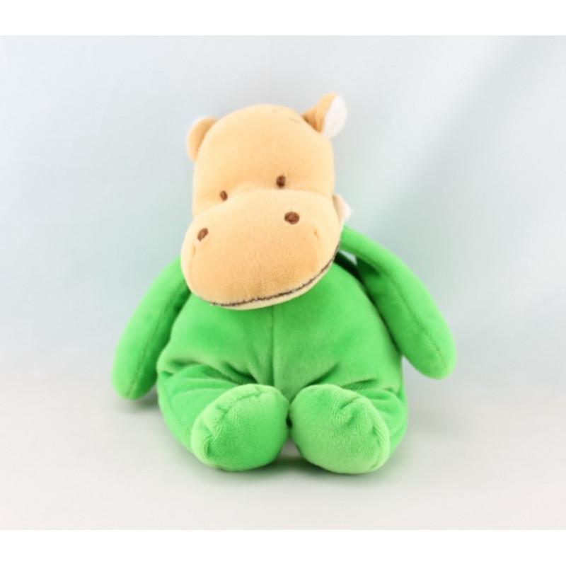 Doudou Hippopotame Vert tactile Amtoys