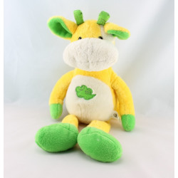 Doudou vache orange jaune lune CP INTERNATIONAL