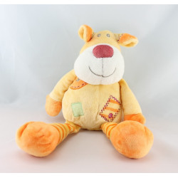 Doudou chien jaune orange KIABI