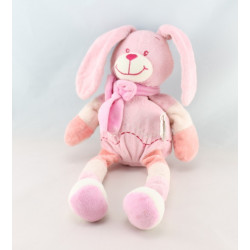 Doudou lapin bleu écharpe Bengy