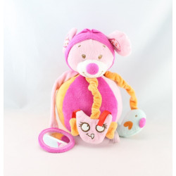 Doudou souris combinaison rose avion TEX BABY