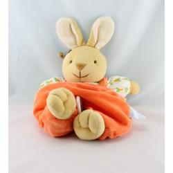 Doudou hochet lapin orange carottes COMPTINE