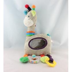 Doudou mouton gris beige multicolores NICOTOY