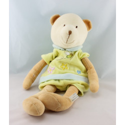 Doudou grenouille verte jaune orange GIFTOYS