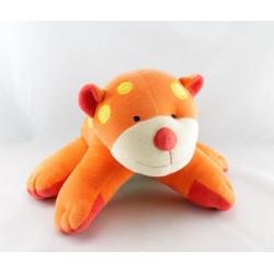 Doudou plat souris orange coeur dentition BABYSUN