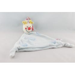 Doudou Clown gris rayé rouge bleu jaune DOMIVA