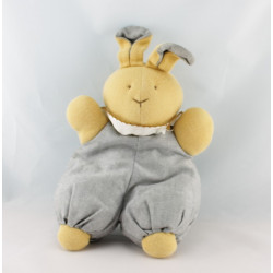 Doudou lapin beige robe grise HISTOIRE D'OURS