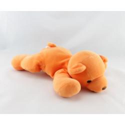 Doudou chien laine orange PLANET PLUCH