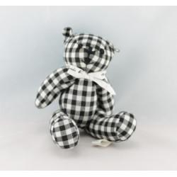 Doudou ours gris noir maillot blanc AGNES B