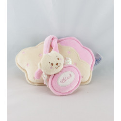 Doudou ours rose avec ailes anneau dention CHICCO