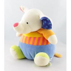 Doudou musical éléphant bleu BABYSUN