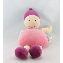 Doudou Bobigny poupée Fille Lutin rose MARESE
