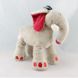 Doudou éléphant beige rouge KIABI
