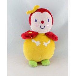 Doudou souris écru beige rose étoile rouge VERTBAUDET