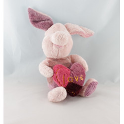 Doudou winnie rose prune coeur Love DISNEY NICOTOY