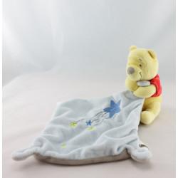 Doudou Winnie l'ourson mouchoir jaune DISNEY BABY