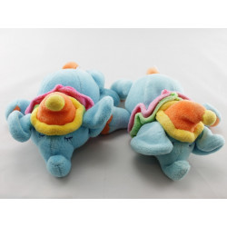 Doudou hochet éléphant bleu JOLLYBABY