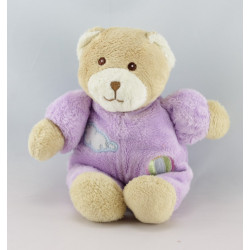Doudou ours violet mauve nuage montgolfiére GIPSY