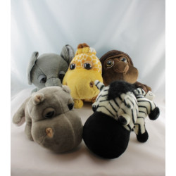 Lot Peluches animaux zébre singe girafe etc Collection Big Headz