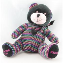 Doudou ours noir rayé multicolore Rykiel NOCIBE 2005