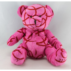 Doudou ours rose rouge NOCIBE 2004