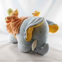 Doudou musical éléphant beige rayé rouge coccinelle MRSA