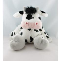 Doudou hochet vache blanche noir HAPPY HORSE