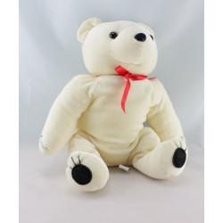 Doudou ours Baby Bear orange noeud blanc GIPSY