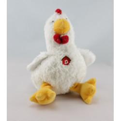 Doudou poule qui caquette GIPSY 30 cm