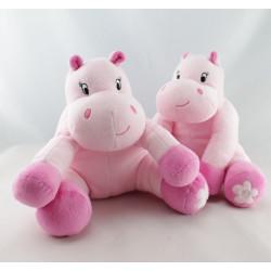 Doudou Hippopotame rose arthur et lola BEBISOL