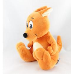Doudou peluche Kangourou orange WALIBI