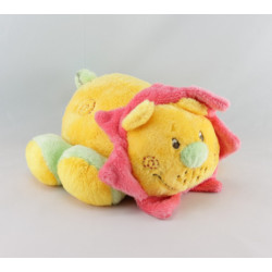 Doudou mouton agneau rose jaune bleu ADDEX JUNIOR