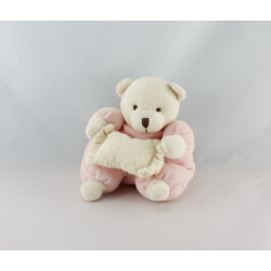 Doudou ours rose coussin CMP