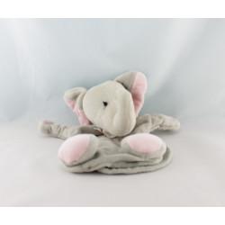 Doudou éléphant gris Doux Calins Les Jouets Tout Compte Fait