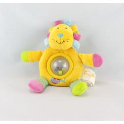 Doudou lion eveil jaune hochet dentition BABY NAT
