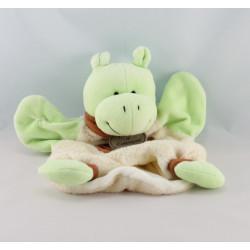 Doudou et compagnie marionnette l'hippo Hippopotame vert anneau