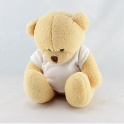 Doudou ours beige blanc rayé NOUNOURS