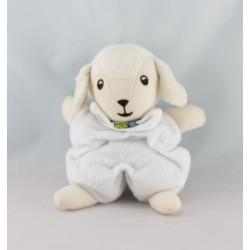 Doudou semi plat agneau mouton blanc DMC
