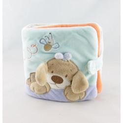 Doudou chien beige bleu escargot NATTOU