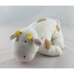 Doudou vache blanche grise Antoinette DPAM