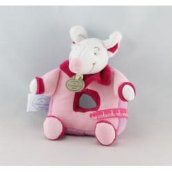 Doudou et compagnie marionnette Didie la souris rose vert