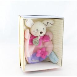 Mini Doudou plat lapin rose mauve BABY NAT