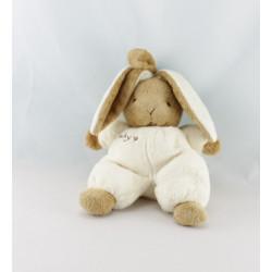 Doudou lapin blanc beige BABY CP INTERNATIONAL
