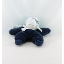 Doudou semi plat lutin bleu marine COROLLE