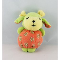 Mini Doudou ours boule ecru vert NOUNOURS