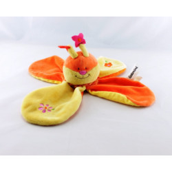 Doudou papillon abeille rose vert jaune CATIMINI