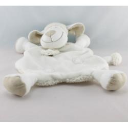 Doudou plat mouton blanc bleu spirale KIABI NICOTOY