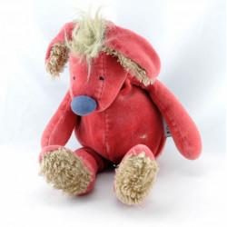 Doudou chien rouge Les Zazous MOULIN ROTY