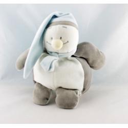 Doudou pingouin bleu blanc gris BENGY
