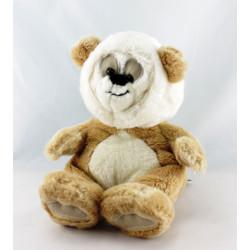 Doudou ours panda gris bleu MARESE